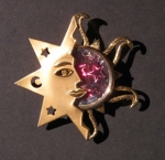 SUN, MOON & STARS BROOCH