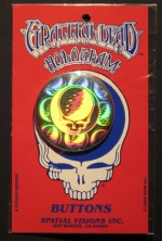GRATEFUL DEAD HOLOGRAM BUTTON